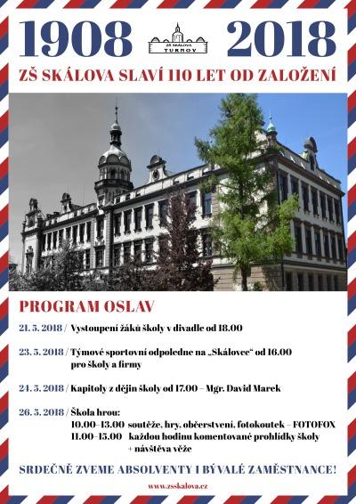 Základní škola ve Skálově ulici v Turnově oslaví 110 let!
