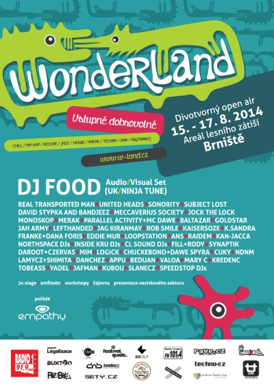 Divotvorný festival Wonderland představí britskou legendu DJ Fooda