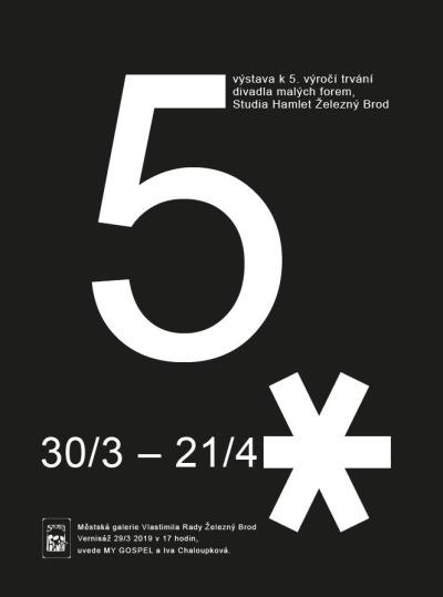 Páté výročí Studia Hamlet bilancuje výstava Pětka s hvězdičkou