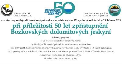 Bozkovské jeskyně oslaví 50. výročí setkáním průvodců a zaměstnanců
