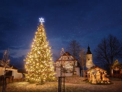 Na severu Čech díky pomoci ČEZ rozsvítili vánoční stromy ve 37 obcích