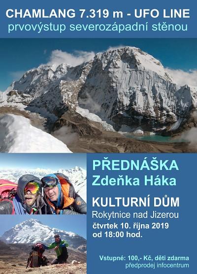 Zdeněk Hák bude v Rokytnici vyprávět o výstupu na Chamlang