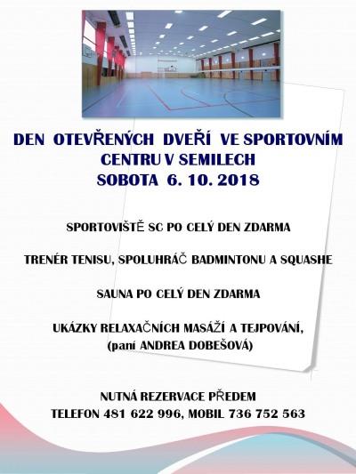 Říjnové akce pod patronací Sportovního centra Semily