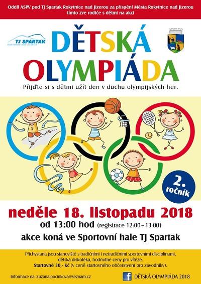 Druhý ročník Dětské olympiády pořádají v Rokytnici