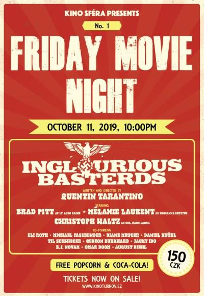 V rámci Friday Movie Night promítnou tarantinovku Hanebný pancharti