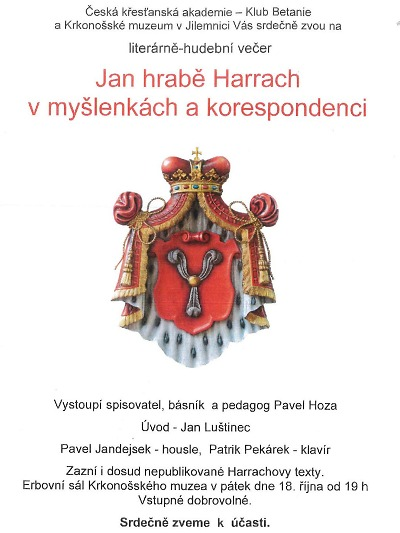 Jan hrabě Harrach v myšlenkách a korespondenci