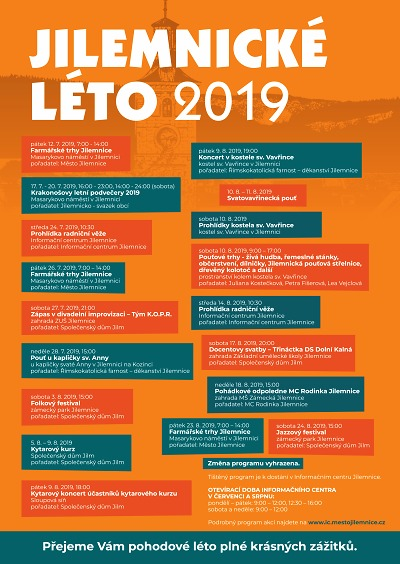 Program Jilemnického léta 2019
