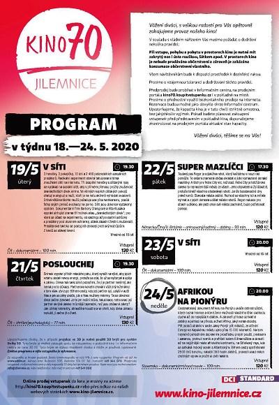 Program jilemnického kina od 18. do 24. května