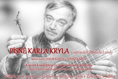 Písně Karla Kryla zahrají v železnickém kostele Jakub a Tomáš Kazdovi