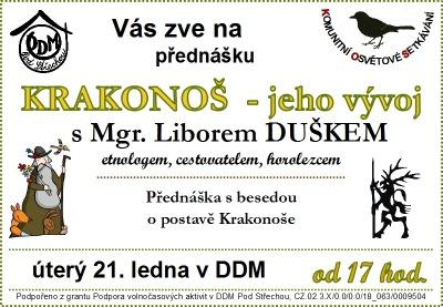 O vývoji postavy Krakonoše bude přednášet Libor Dušek