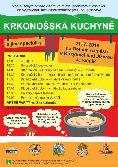 V Rokytnici pořádají 4. ročník akce Krkonošská kuchyně a jiné speciality