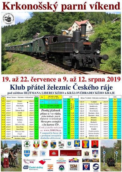 Krkonošský parní víkend opět o prázdninách potěší železniční nadšence
