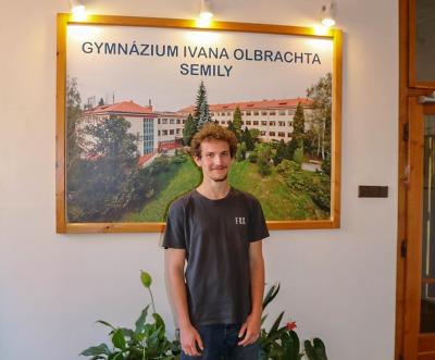Lucas Brun je nový francouzský spolužák studentů semilského gymnázia
