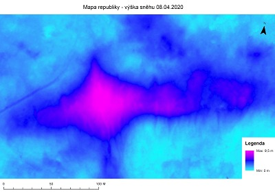 Letošní maximum na Mapě republiky bylo 9,5 metru