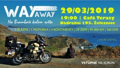 Kadlusová a Nykl představí svou cestu na motorkách v Cafe Terasy