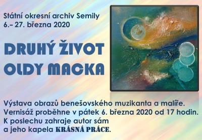 V semilském archivu zahájí výstavu Druhý život Oldy Macka