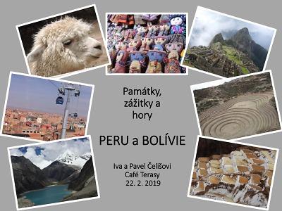Promítání o Peru a Bolívii bude probíhat v Cafe Terasy