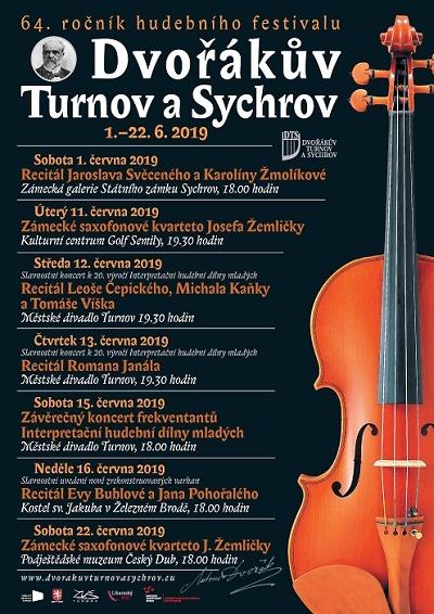 Festival Dvořákův Turnov a Sychrov představí opět klasickou hudbu