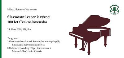 Město Jilemnice zve na oslavy stého výročí vzniku Československa