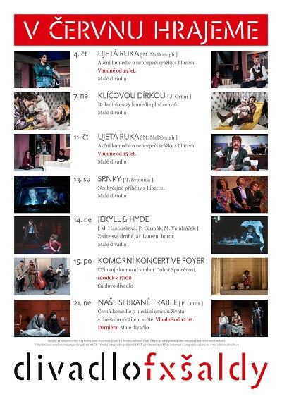 Liberecké divadlo F. X. Šaldy v červnu opět hraje pro živé diváky