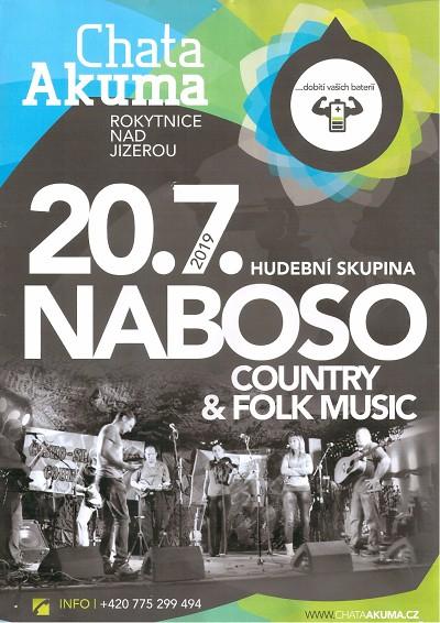 Koncert kapely Naboso se koná na Chatě Akuma