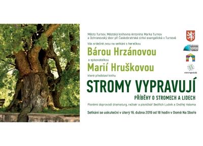 Na Sboře v Turnově představí novou knihu Stromy vypravují