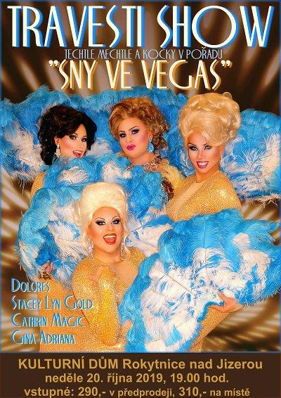Travesti show Sny ve Vegas zavítá do Rokytnice nad Jizerou