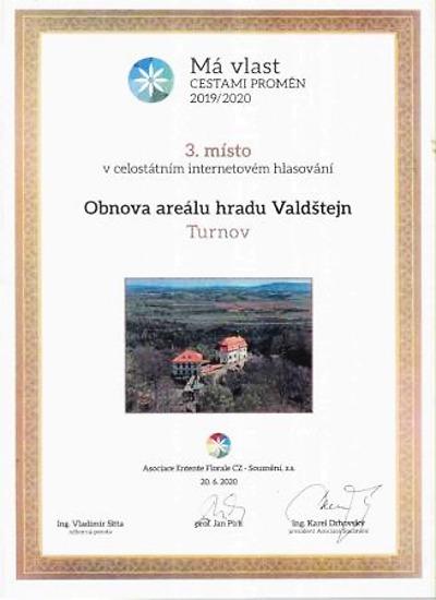 Valdštejn bronzový v projektu Má vlast cestami proměn 2020