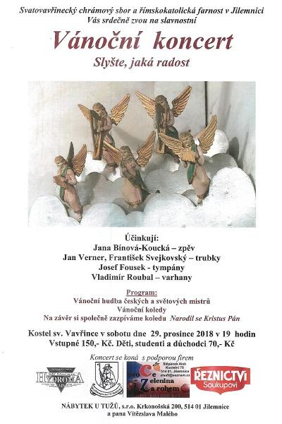 Vánoční koncerty v Jilemnici ve Sloupové síni i kostele sv. Vavřince