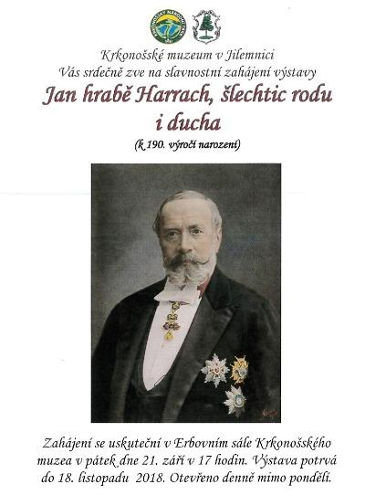 V Krkonošském muzeu v Jilemnici zahájí výstavu o hraběti Harrachovi
