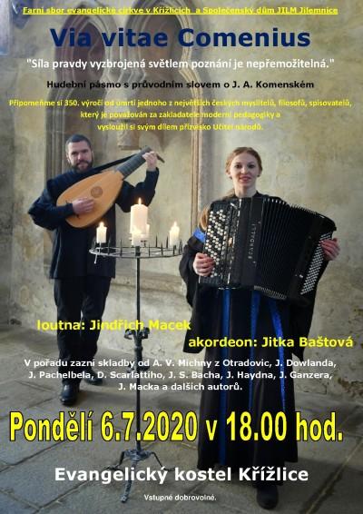 Via vitae Comenius připomene hudbou Učitele národů