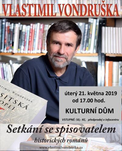 V Rokytnici se koná setkání se spisovatelem Vlastimilem Vondruškou