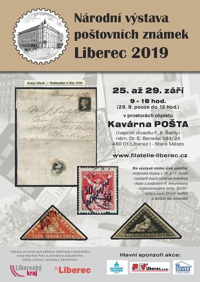 Kavárna Pošta hostí národní výstavu poštovních známek LIBEREC 2019