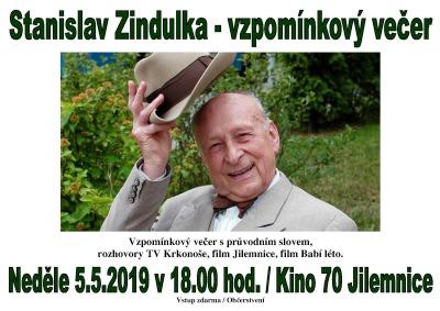 Vzpomínkový večer připomene Stanislava Zindulku