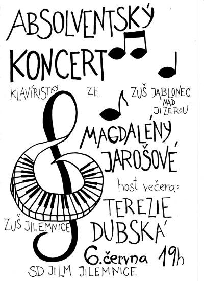 Absolventský koncert nadané klavíristky uvidí SD Jilm