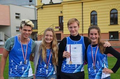 Atleti z Turnova získali na šampionátu žáků pět medailí
