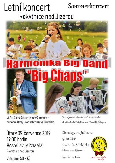 Orchestr Harmonika Bigband zahraje v Rokytnici popové i rockové hity