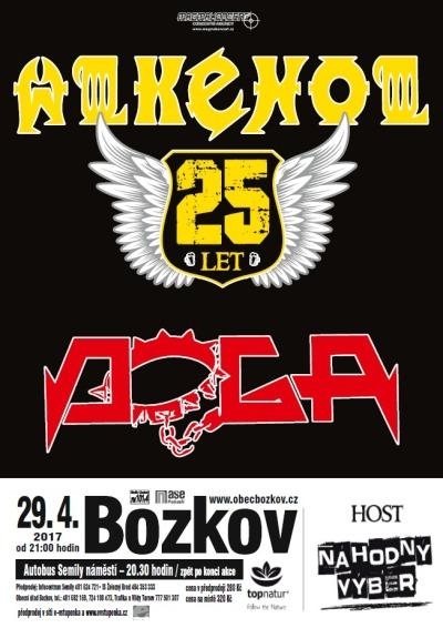 Kapely Alkehol a Doga zahrají dvojkoncert v Bozkově