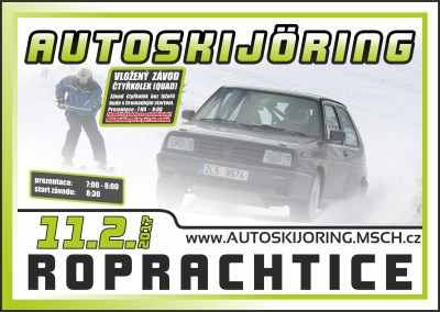 Krkonošský pohár v autoskijöringu pokračuje v Roprachticích
