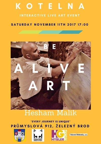 Be Alive Art neboli Hesham Malik při práci