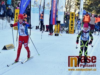 FOTO: Na Benecku soupeřili mladí lyžaři Liberecka a Hradecka