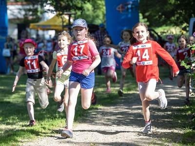 Běh Panskou zahradou posedmé přilákal děti ze Železného Brodu i okolí