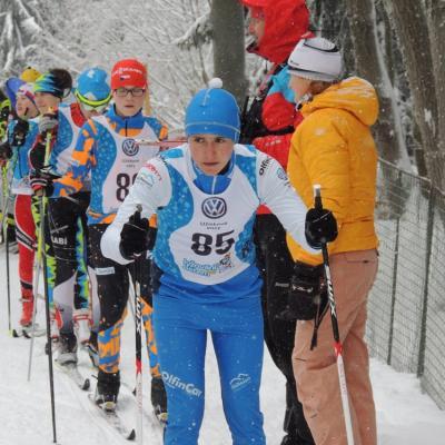 Pohárový závod žactva v běhu na lyžích pokračoval na Benecku