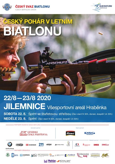 Český pohár v letním biatlonu se koná na Hraběnce v Jilemnici