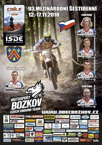 Motosport Bozkov jede na Šestidenní doChile