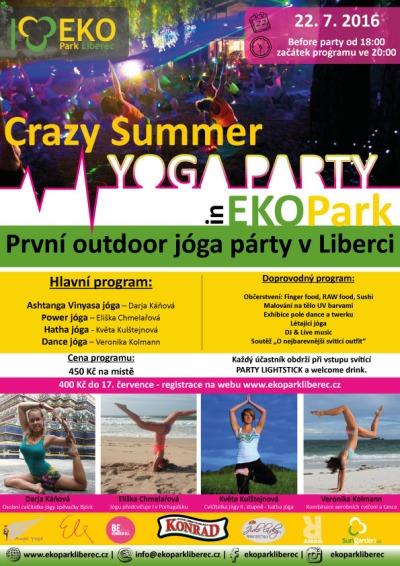 V červenci zamíří do EKOParku Liberec stovky jogínů a jogínek