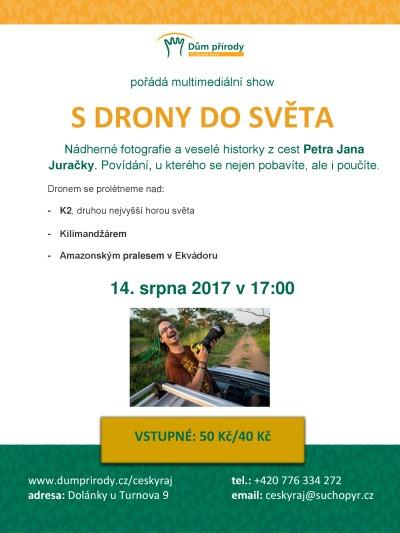 Zážitky z cest nejen s drony bude vyprávět fotograf Petr Jan Juračka