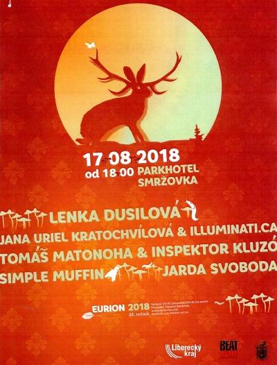 Eurion 2018 přivítá na Smržovce Lenku Dusilovou i Janu Uriel