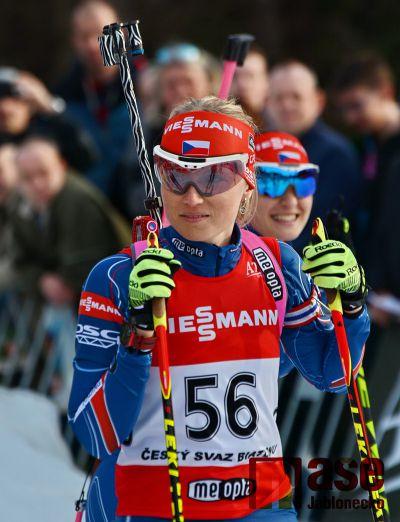 Eva Puskarčíková je mezi elitou biatlonistek