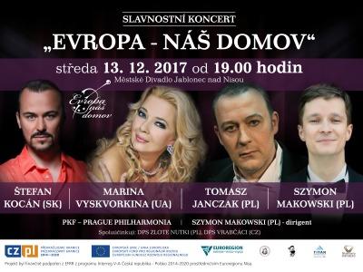 Projekt Evropa - náš domov představí operní celebrity